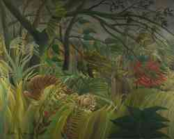 henri rousseau post impressionist surprised