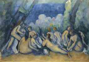 paul cezanne post impressionist bathers les grandes baigneuses