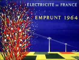 exhibition poster france electricity
