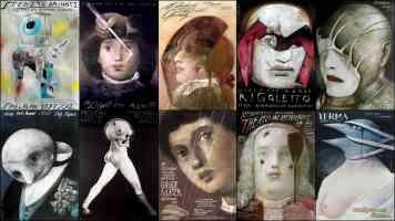 surrealist poster wiktor sadowski opera collage 1