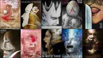 surrealist poster wiktor sadowski opera collage 2